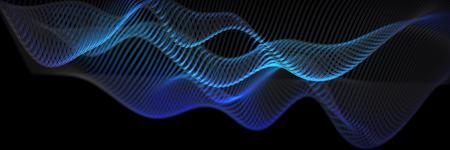 二极管渐变的科技效果自制背景渲染。