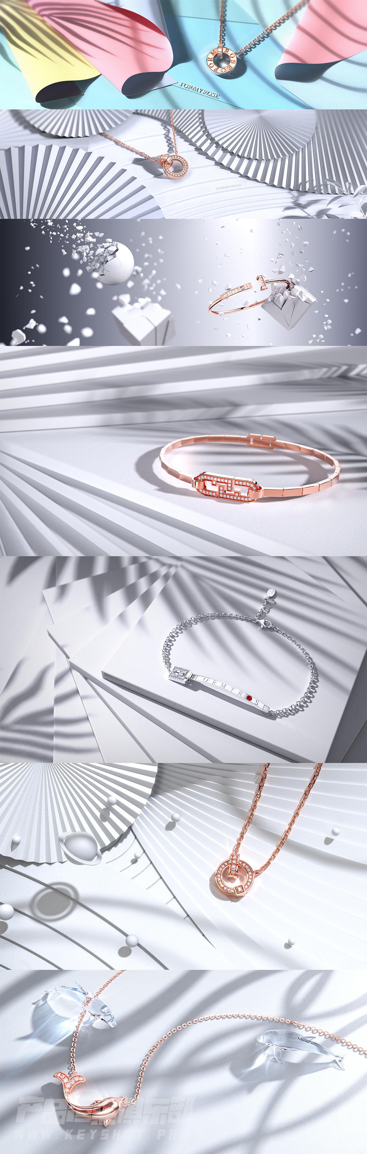 【Keyshot珠宝系列】科幻风格场景渲染全流程