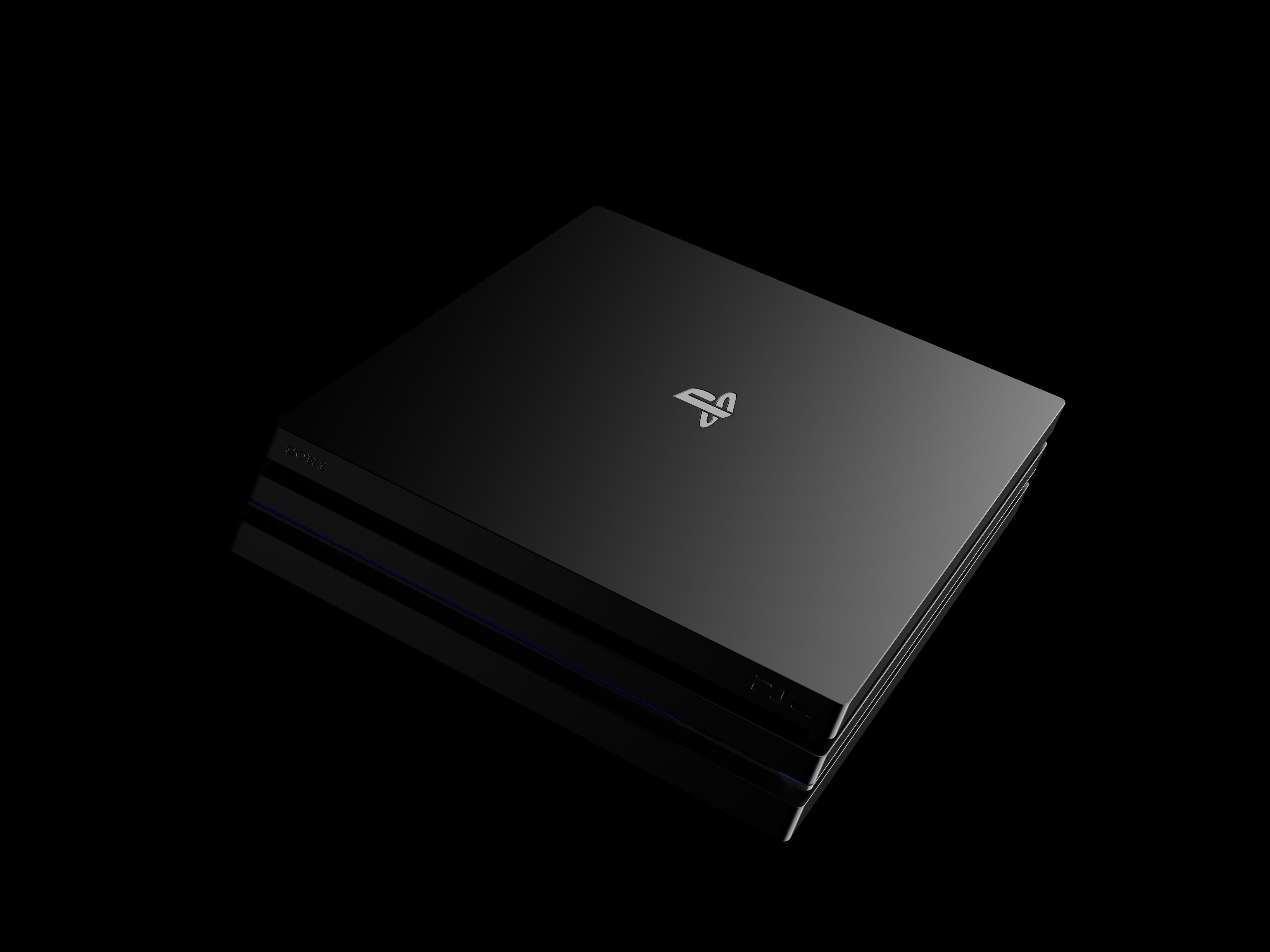 小白渲染练习-PS4主机