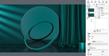 3个绿色产品小场景keyshot源文件
