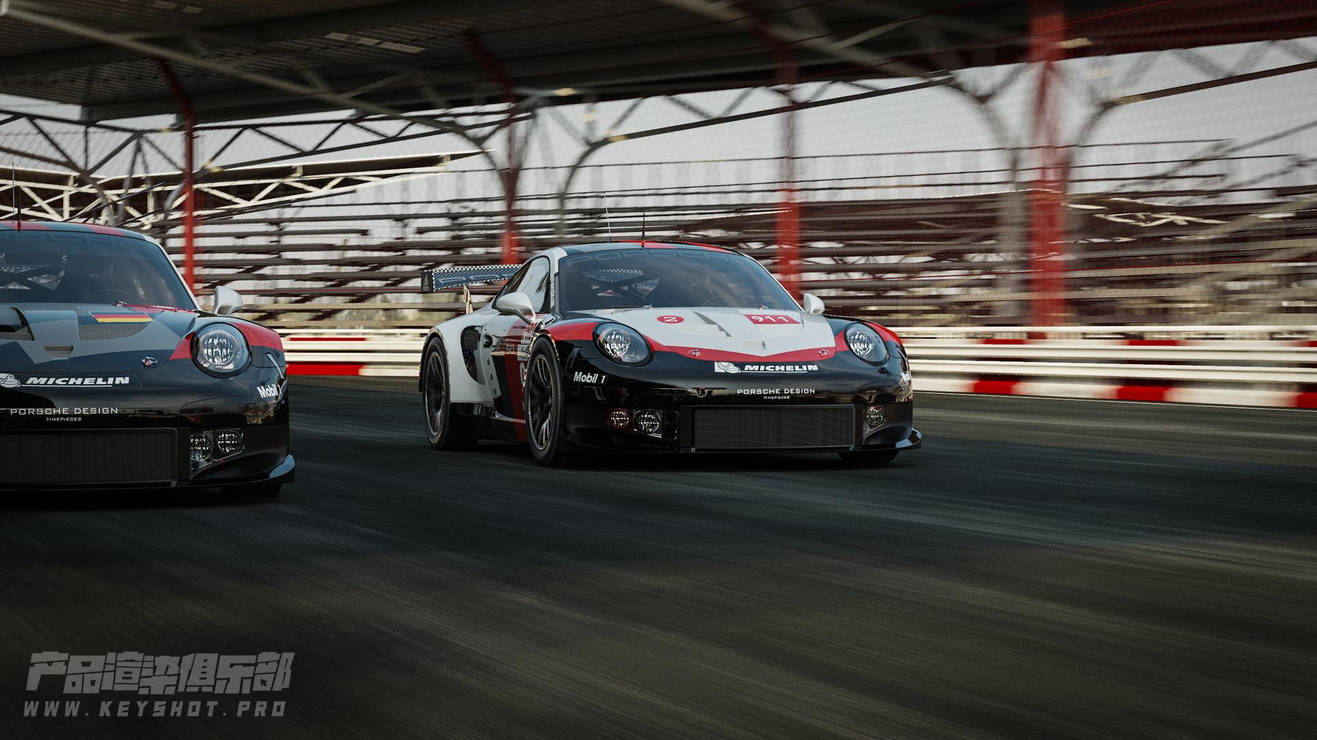 911RSR 汽车渲染