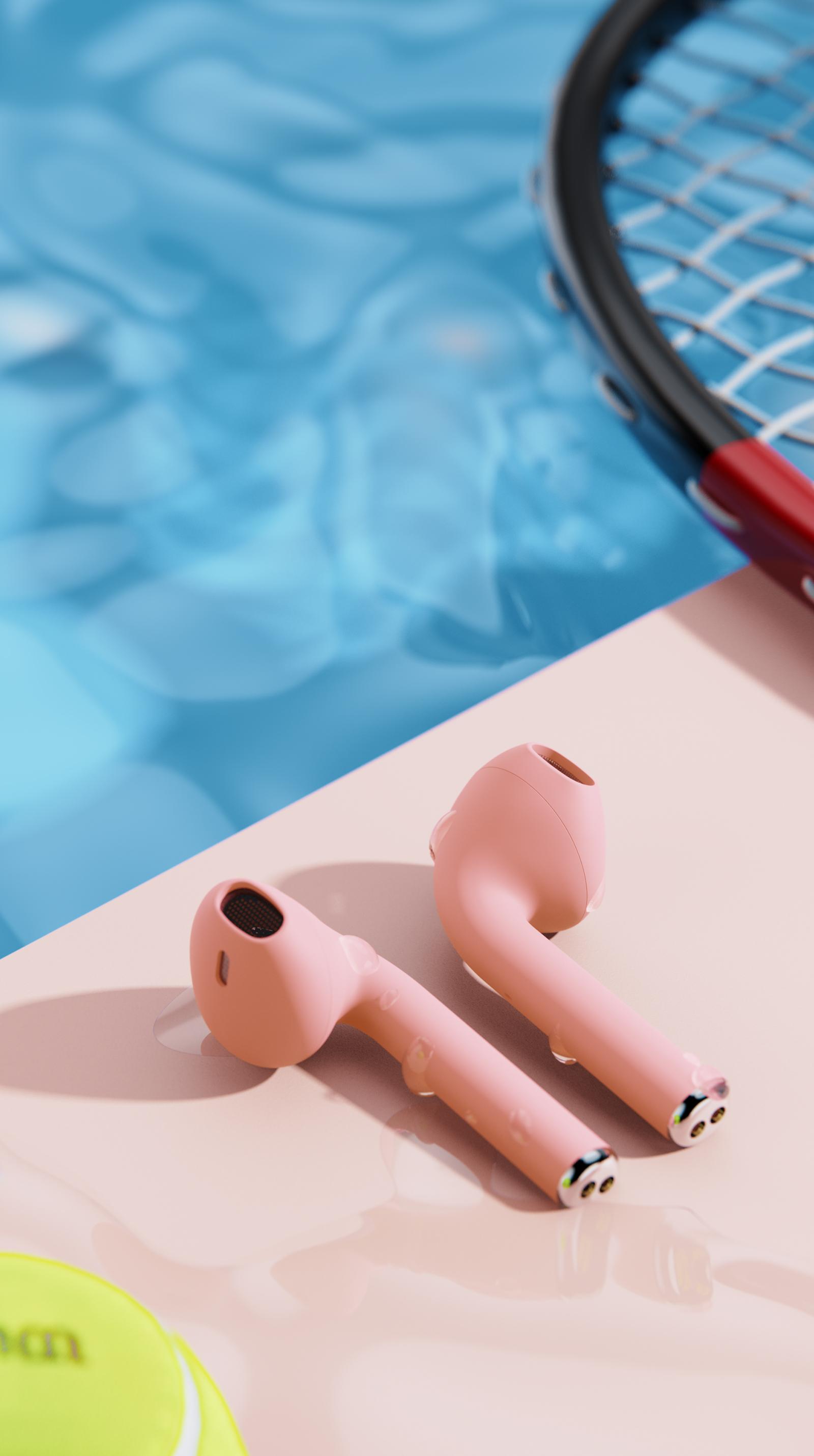粉唧唧耳机渲染