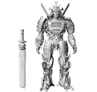 变形金刚机器人奔驰3D模型