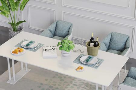室内餐厅餐桌3D场景