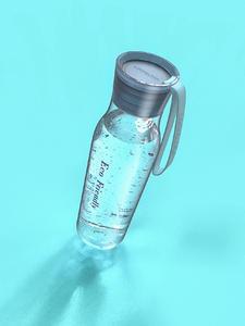 透明水杯产品渲染