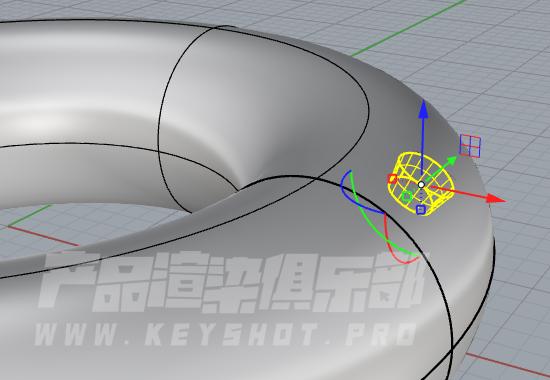 关于犀牛在曲面上打洞(logo)的小技巧